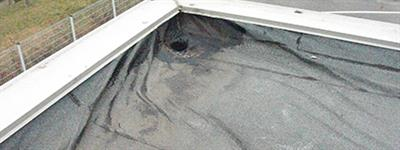 Roof waterproofing surface curling