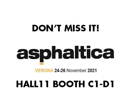 ASPHALTICA VERONA 24-26 November 2021: don't miss it!